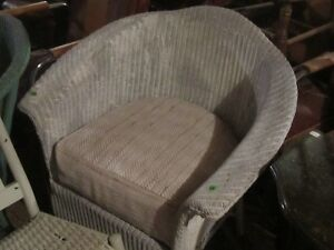 2 OLD 1930s WICKER TUB CHAIRS $50 EACH ! NEED TLC