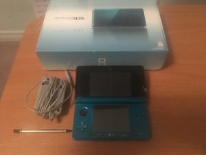 Original Aqua Blue Nintendo 3DS Handheld Console