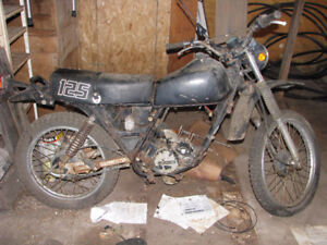 "1983 Kawasaki KE125 ""PARTS BIKE"" NEW Price"
