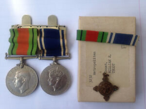 DEFENSE AND POLICE MEDAL + ST JOHNS PIN
