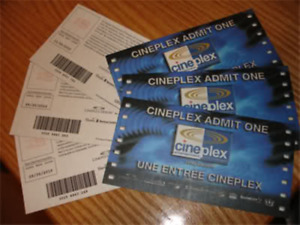 Free Movie Passes! Tickets for movies at Cineplex Theatres
