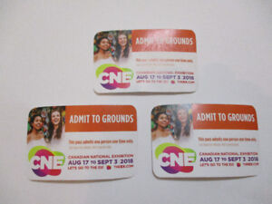 CNE Entrance Admission Passes - Valid Any Day - Extras From ODSP
