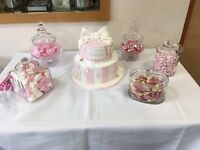5x Glass Sweet Jars Pick N Mix Party Christening Wedding