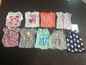 Girls size 4 t-shirts and tanks