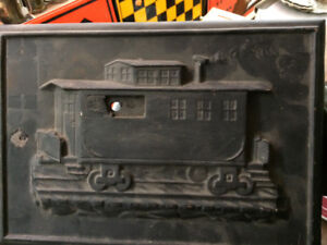 Caboose stove front