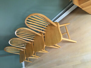 4 chairs solid maple