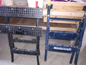 2 folding clamping work benches