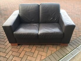 2 seater leather couch sofa