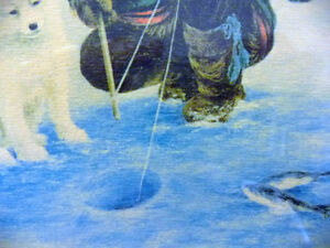 """Inuit Painting by Dorothy Francis """"Little Fisherman"""" Lithograph Stratford Kitchener Area image 5"""