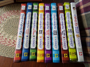 Hardcover book set of Diary of a Wimpy Kid