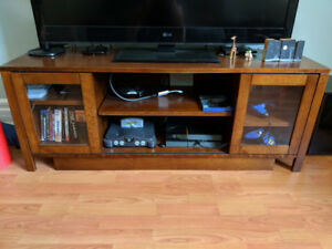 TV console table with lots of storage