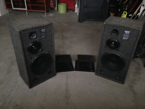 Audio Tech speakers with stands Kitchener / Waterloo Kitchener Area image 3