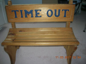 TODDLER TIME OUT BENCH  -  Pickering