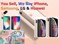 I'll Buy iPhone 11, Pro, XS, Max Samsung S10, S10+ Note 10+ Top$