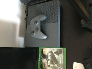 Xbox one with games and controller