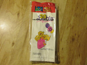 BARBIE Vintage 25 Paper Lunch Bags Hasbro Mattel Toy Doll 1990