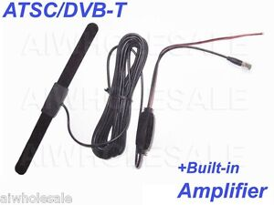 Car Digital TV Antenna Booster Amplifier For Tuner Receiver SMA DVB-T / ATSC NEW