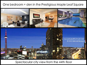 Furnished downtown condo Maple Leaf Square @ Bremner with TTC