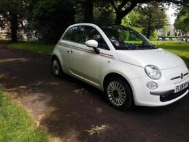2009 59 Fiat 500 1.2 LOUNGE, WHITE, 1 OWNER, FSH,,PANORAMIC ROOF £3295