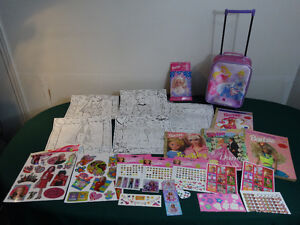 Barbie Suitcase, Doodle bag with posters, colouring books..