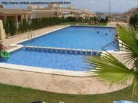 Costa Blanca, Jan-Apr £130 per week up to 4 persons (SM103)