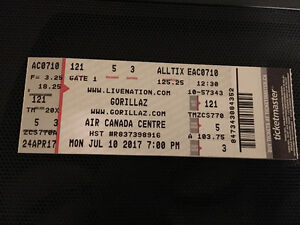 Selling 2 Gorillaz Tickets for July 10 Air Canada Centre