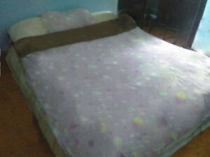 Queen size bed (Boxspring+matress)
