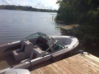 16 foot bowrider with 90hp Evinrude tilt and trim