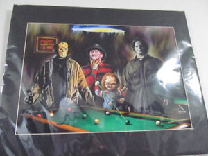 Selling Jason,Freddy, Chucky, Michael Myers playing pool picture
