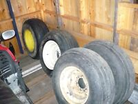 Implement tires and rims