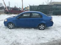 2009 Chevy aveo safetied
