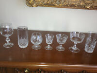Crystal glasses/ decanters