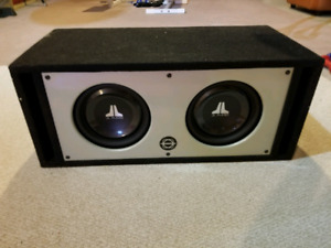 JL 300W 10 INCH Subwoofer x2 with Box