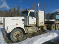 WESTERN STAR TRACTOR WITH LOWBED AND HIGH-BOY