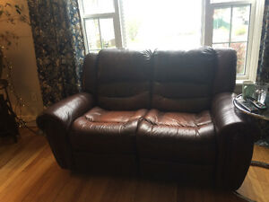 Leather couches. 800$ OBO