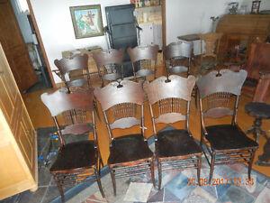antique set 8 chaises identiques