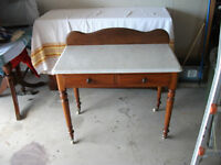 OLD MARBLE TOP DESK