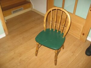 childrens oak chair