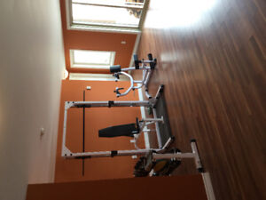 Body solid Smith machine and lat pull down
