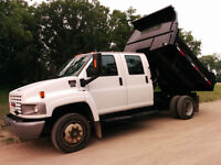 GMC 5500 Crew Cab Loaded with Mini Dump Box and More