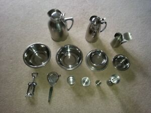 13 Pc Stainless Steel Hotel Room Service Set, W/Some Brand New