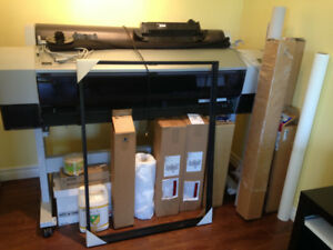 Large scale free standing printer and supplies for sale