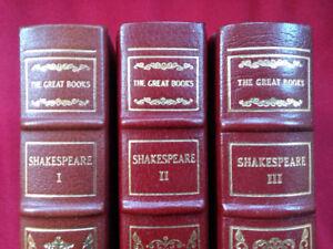 Franklin Library - Shakespeare Volumes I, II & III