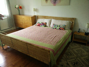 King size bed set for sale