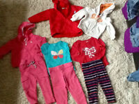 3 girl fall outfits size 2T plus  + fall/spring jacket & hoodie