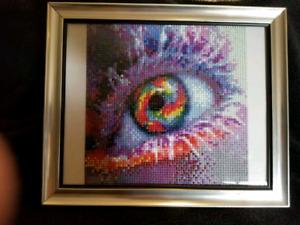 Coloured Eye Finished and framed