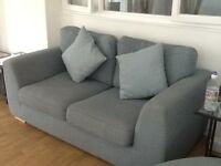 LARGE 2 seater fabric sofa. Sits 3. Also pulls out to double bed