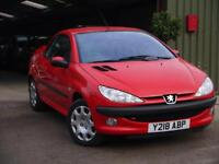 Peugeot 206 1.6 2001MY Coupe Cabriolet S. IMMACULATE. SERVICE HISTORY