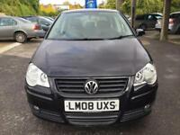 2008 Volkswagen Polo Hatch 5Dr 1.4 16V 80 Match Petrol black Manual