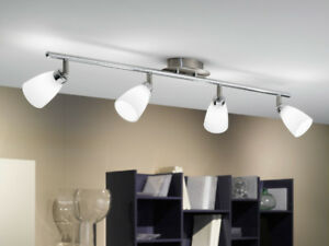 Eglo Matte and Nickel 4 Light Track Fixture